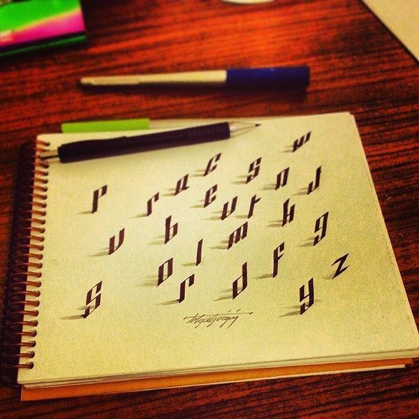 caligrafia artística como fazer