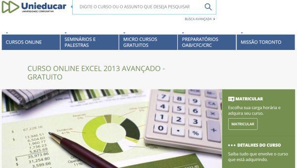 curso de Excel gratuito a distância